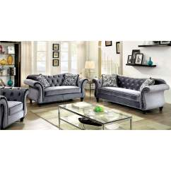 Fabric Sofa Sets With Wood Trim Cream Colored Sectional Sofas Furniture Ville - Bronx Ny Jolanda Gray Curved-back ...
