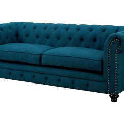 Cheap Teal Sofas Natalia Leather And Chenille Sofa Lion Furniture Center Stanford Dark Of America