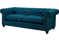 Furniture Ville - Bronx NY Stanford Dark Teal Sofa