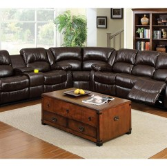 Brooklyn Bonded Leather Lounger Chair And Ottoman Colorful Adirondack Chairs Flamingo Furniture Winslow Dark Brown Sectional Of America