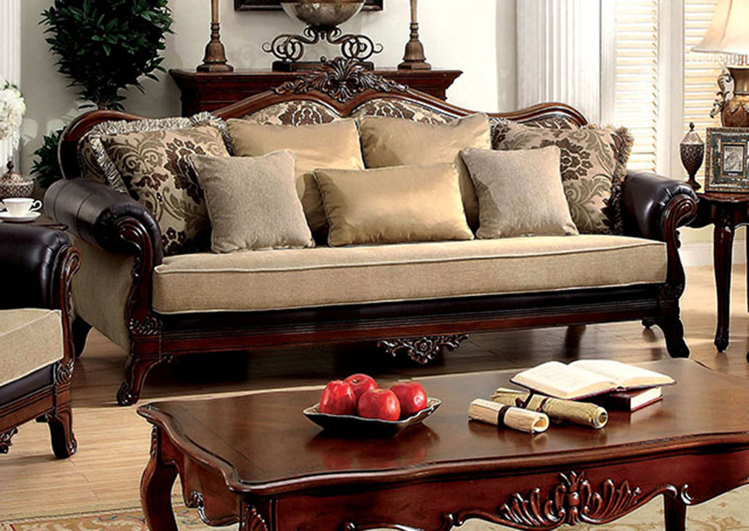leather or fabric sofa for family room pizzazz foothills furniture rashid tan top grain w pillows of america