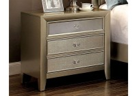 Best Buy Furniture and Mattress Briella Silver Nightstand ...
