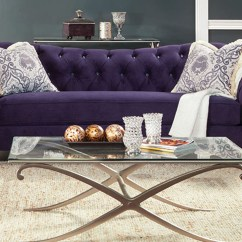 Purple Sofas For Sale Dining Lazy River Furniture Antoinette Sofa Of America