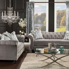 Leather Sleeper Sofa And Loveseat Pink Perth Furniture Ville - Bronx Ny Antoinette Dolphin Gray Velvet ...