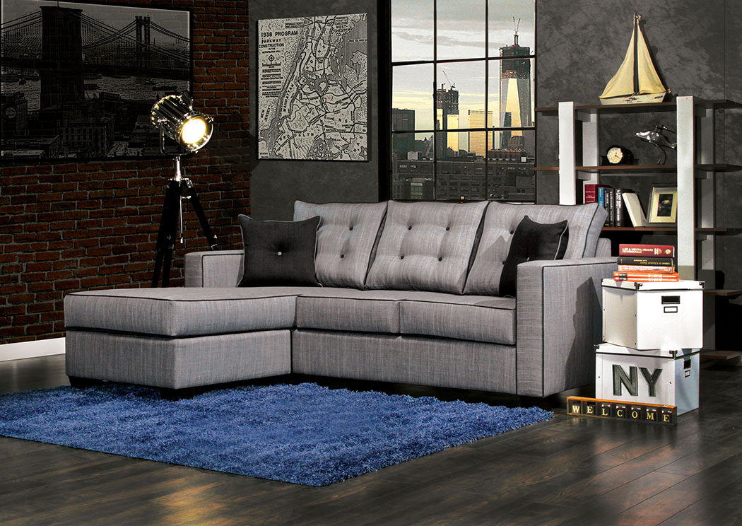 justin ii fabric reclining sectional sofa innovations beds s furniture company ravel gray of america