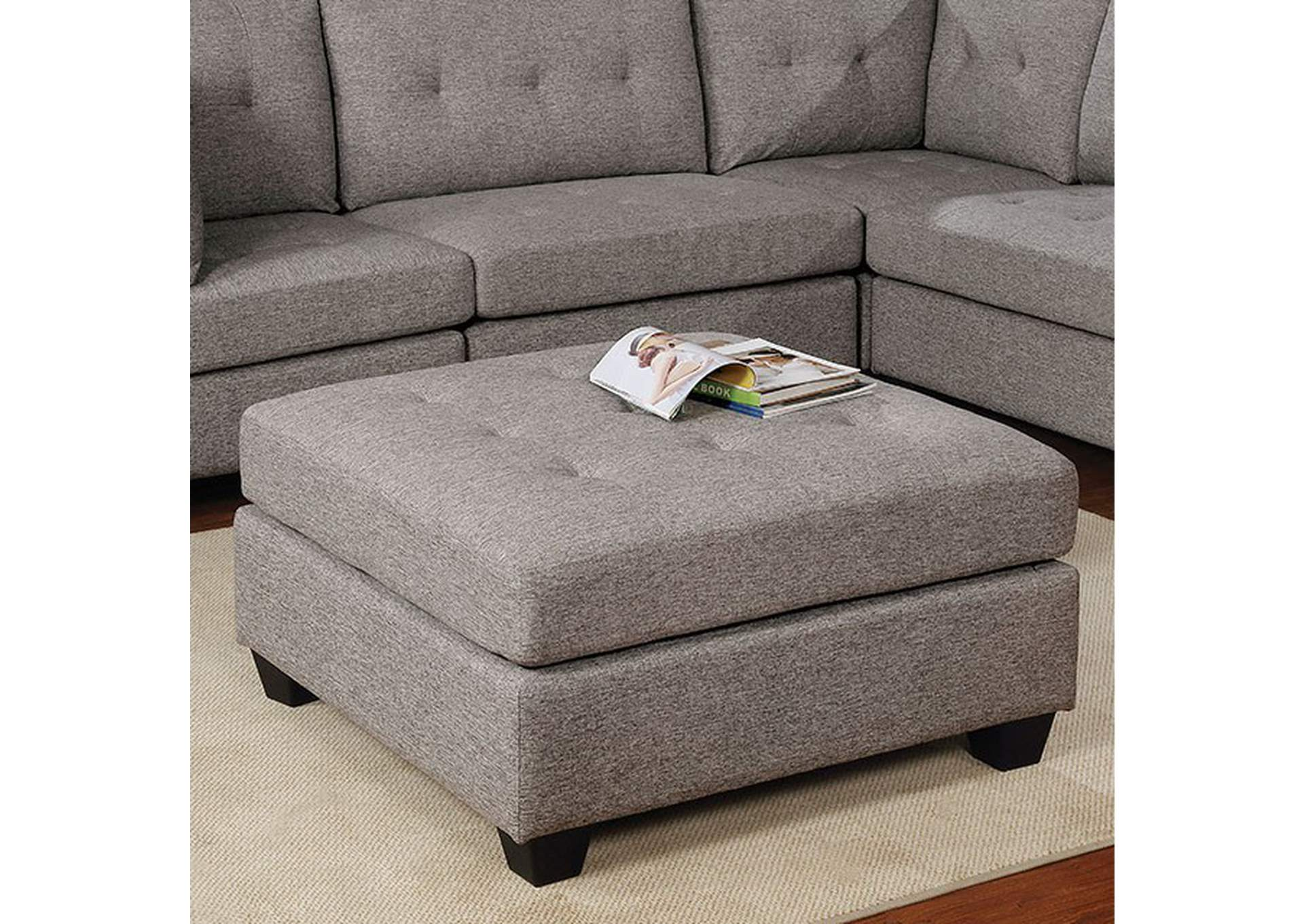 The Furniture Outlet Ny Pencoed Gray Ottoman