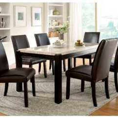 Chair Covers Gladstone Hanging Swing Furniture Ville Bronx Ny Of America L Marble Top Dining Table W 4 Side Chairs