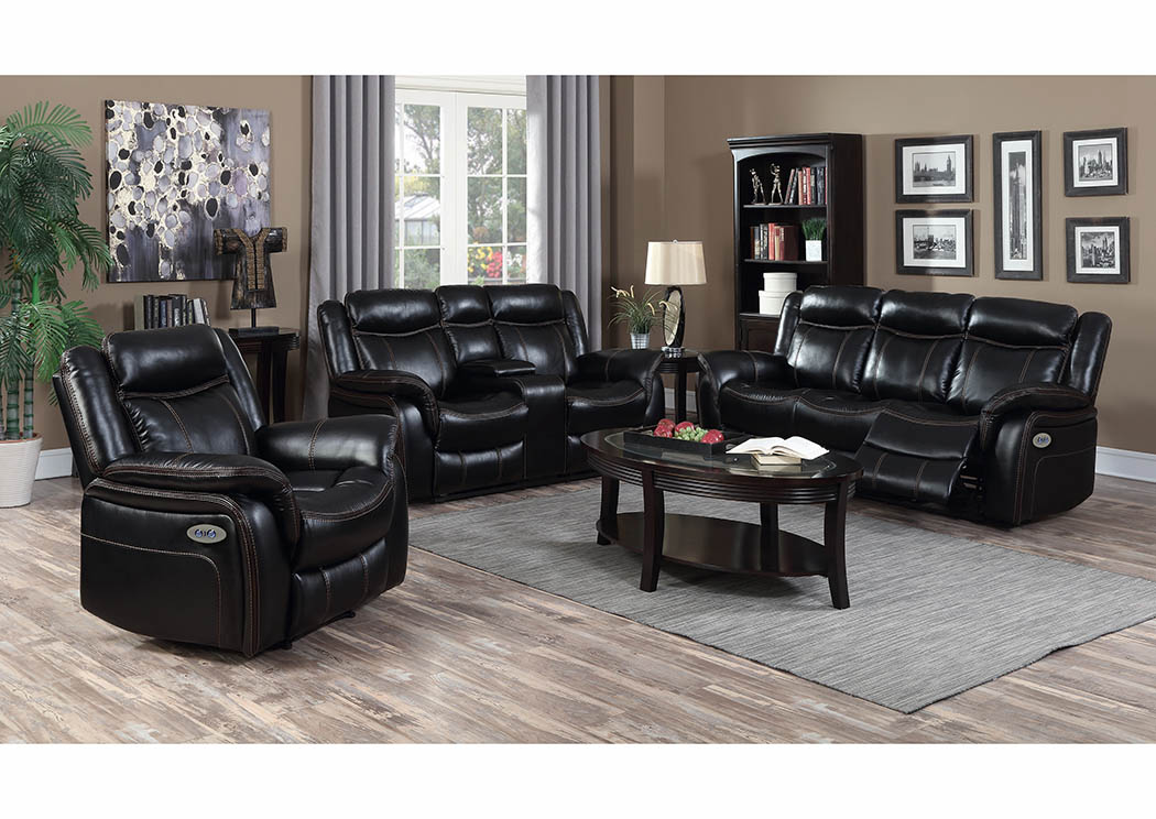 sofa world recliner chairs gray leather nailhead just furniture black look power double reclining distributors