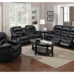 Triple Reclining Sofa Leather Sofas On Gumtree Glasgow Just Furniture Black Bonded World Distributors