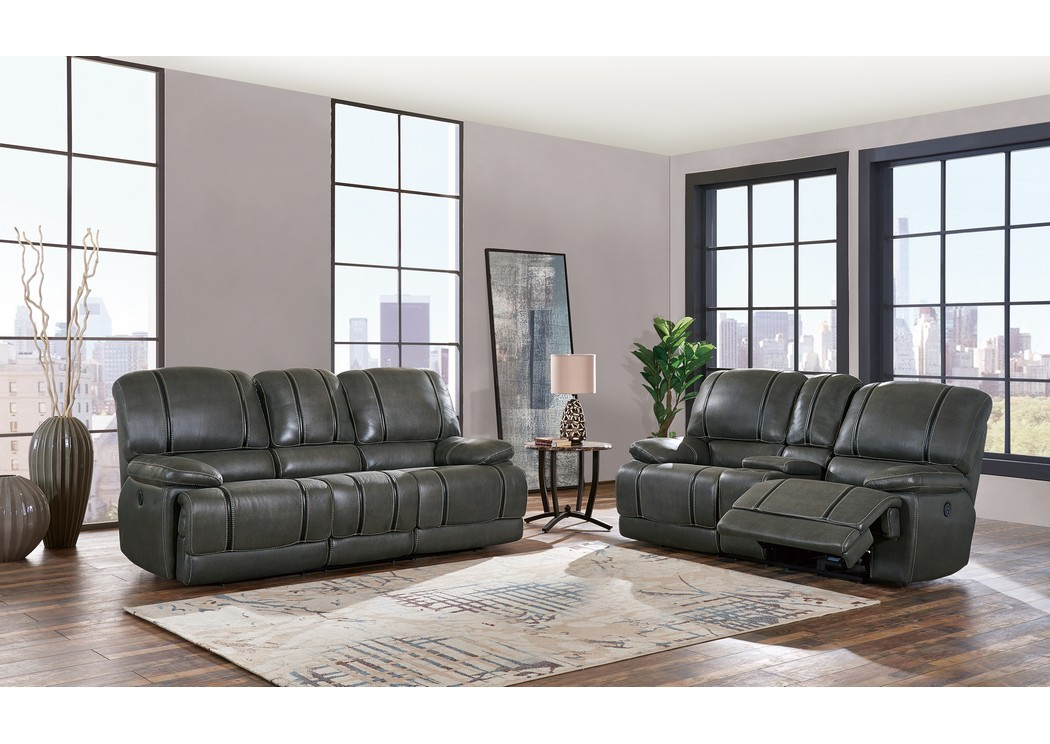 grey power reclining sofa redflagdeals h a furniture gin rummy charcoal and loveseat w usb global usa