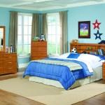 K R Furniture Tanner Full Queen Bookcase Headboard