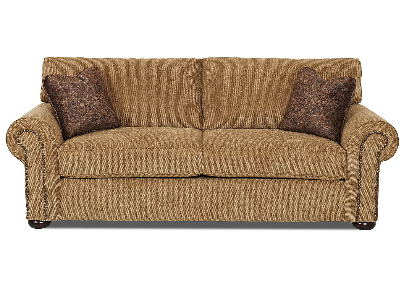 brown fabric sofa charcoal velvet tufted beverly hills furniture queens sienna light klaussner home furnishings