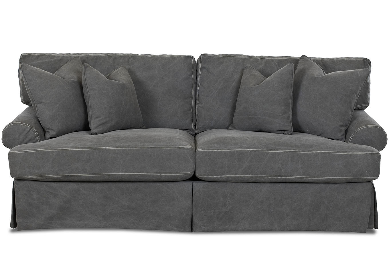 microfiber sofas how to fix a broken sofa bed frame amite city furniture la lahoya tibby pewter klaussner home furnishings