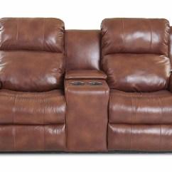 Klaussner Grand Power Reclining Sofa Armrest Drink Holder Beacon Furniture Cayman Vivio Alfresco Hickory Leather Vinyl Loveseat Home Furnishings