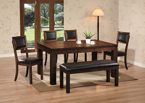 rubberwood butterfly table with 4 chairs babys first chair 2 direct mattress furniture new rochelle ny 2466 4x rubber 2xside pu blk seat back