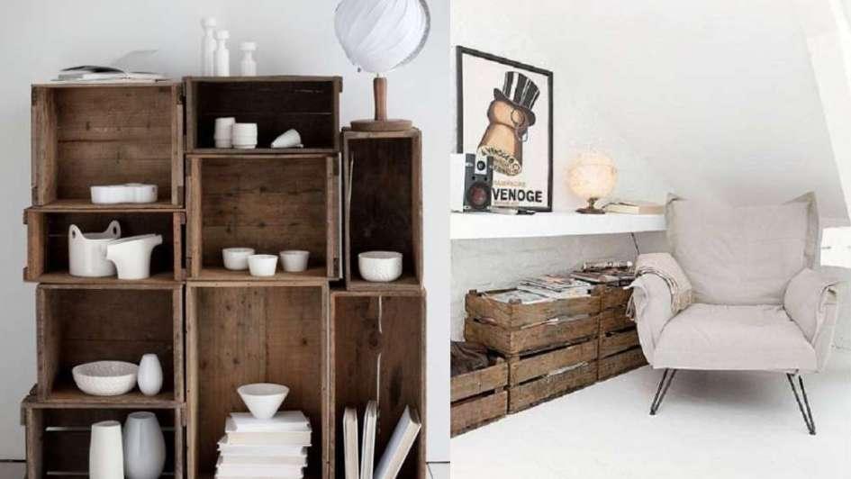 Muebles increbles y originales hechos con cajones de madera