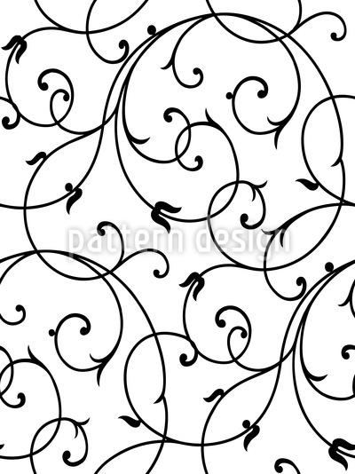 Schnrkel Zart Nahtloses Muster