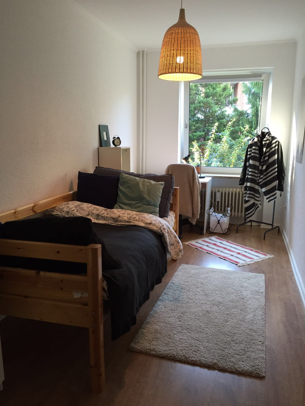 desk in living room apartment area rugs ideas 12m^2 furnished shared with 2 students ...