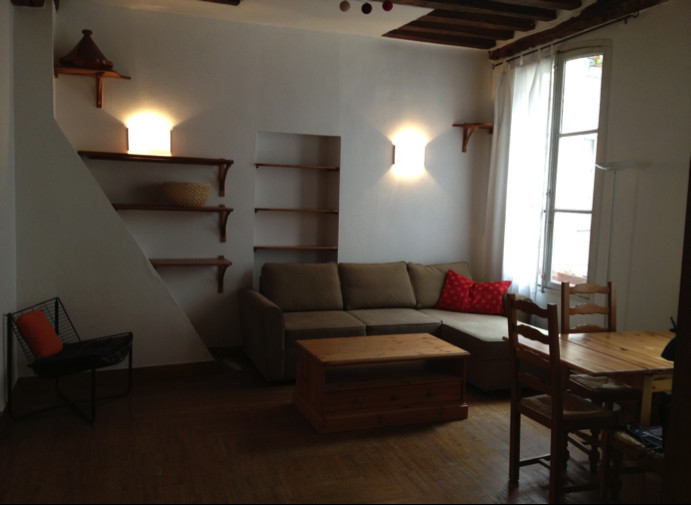 Fully furnished 2 bedroom apartment 60 m2 660 square feet in center of Paris  Flat rent Paris