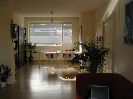 wall paper for living room divider in fully furnished apartment rent rotterdam city ...
