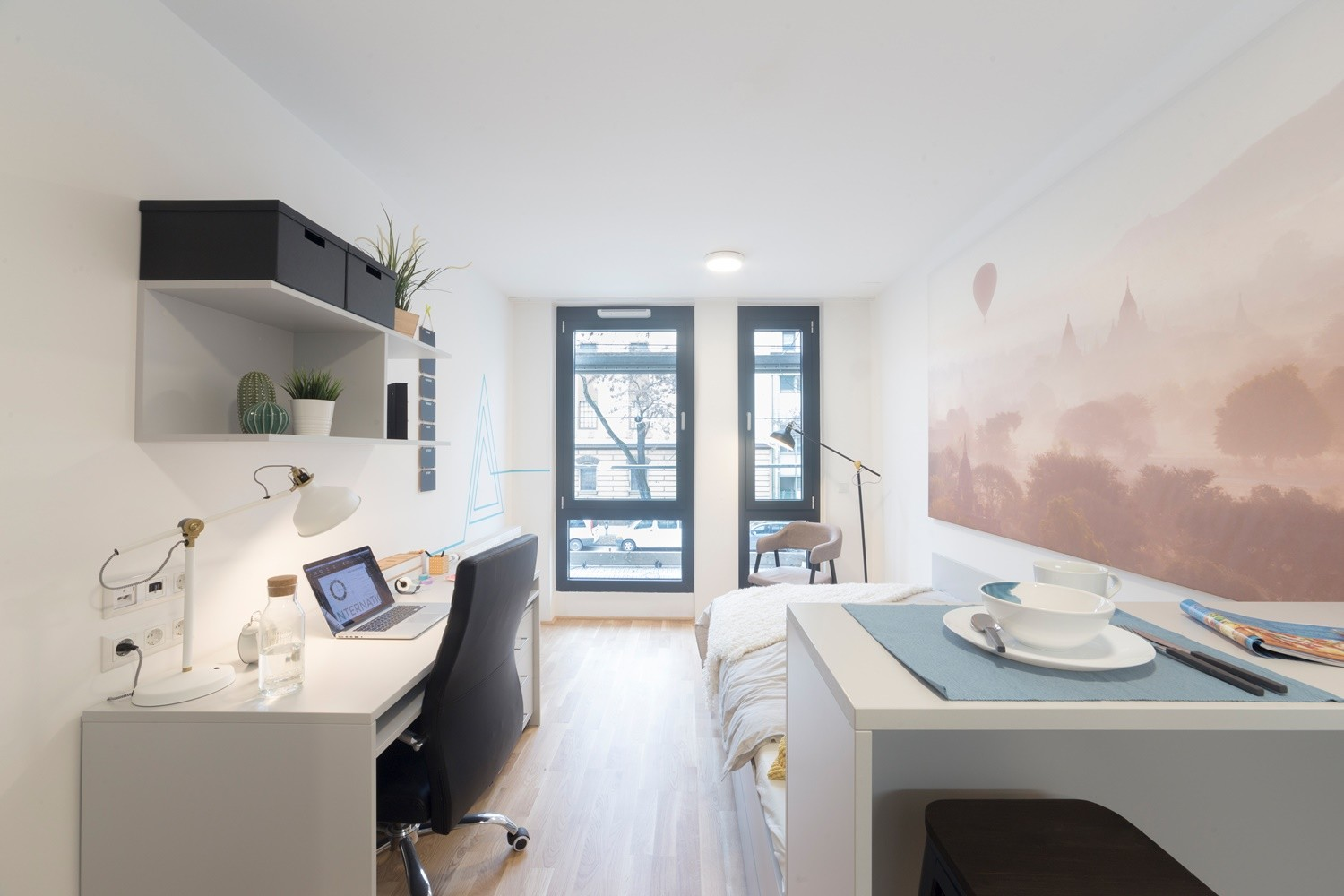 Fully furnished single studio with private kitchen and bathroom  Flat rent Vienna