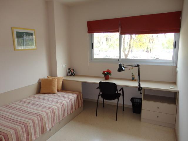 Habitacin individual con cocina y bao en la Universidad