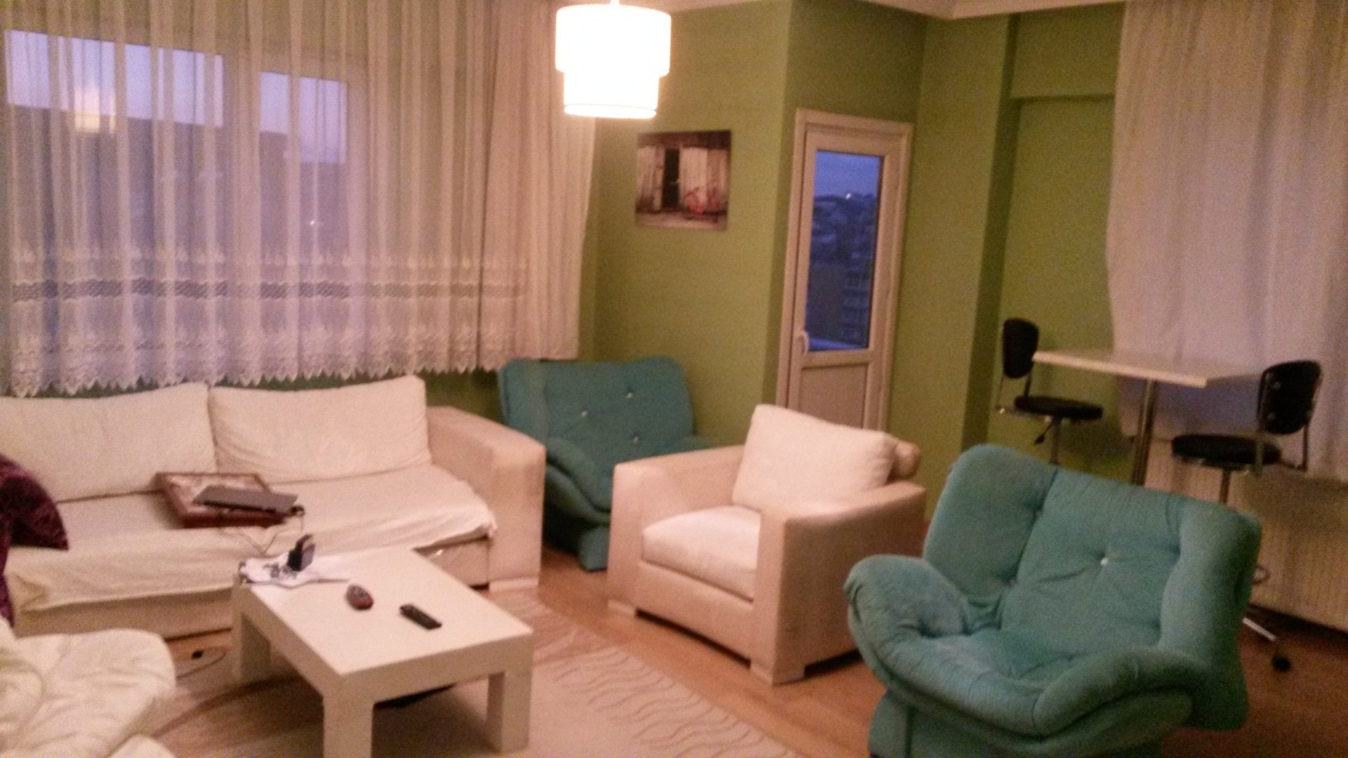 pictures of furnished living rooms complete room sets large 3 fully apartment in sisli