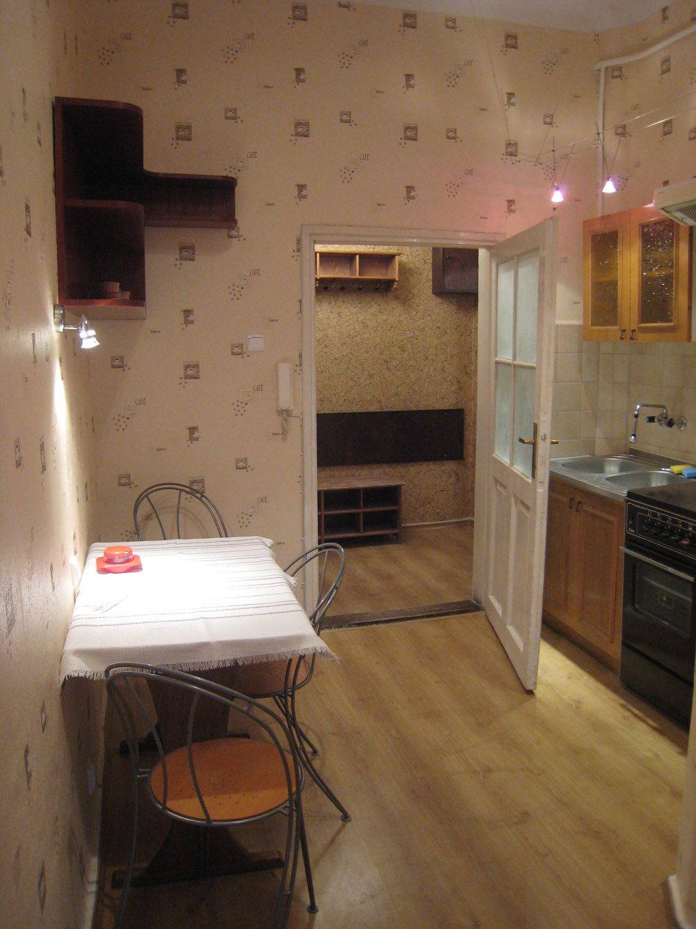 kitchen for rent wood floors one room but quite big flat 40m2 with to from now no