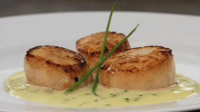 Seared Scallops with Truffle Beurre Blanc   Rouxbe Online Culinary School
