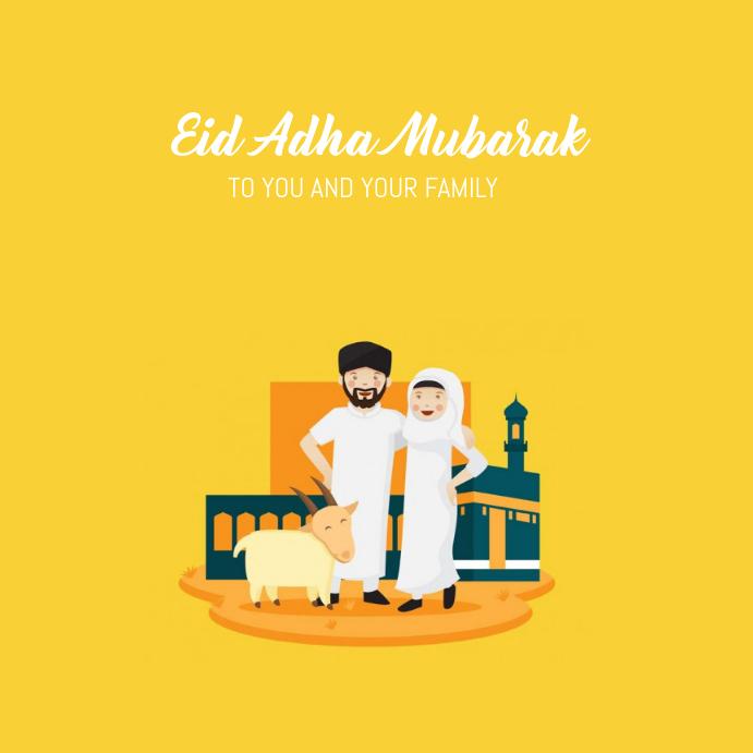 01 Eid Adha Mubarak Template Postermywall