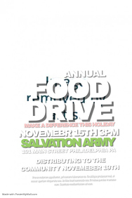 Customizable Design Templates for Food Drive Fundraiser  PosterMyWall