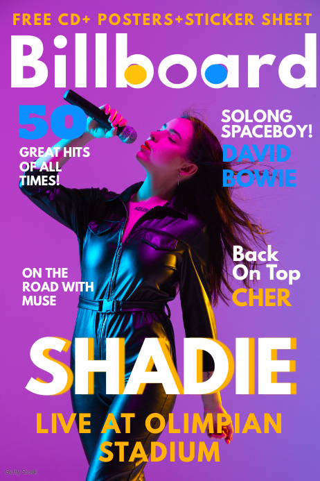 music magazine cover template