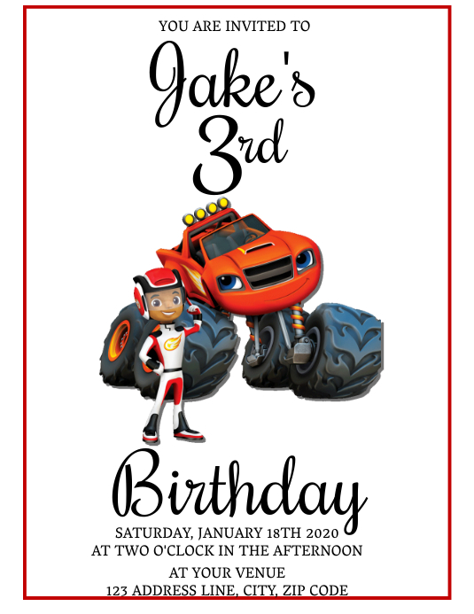 3rd birthday invitation template