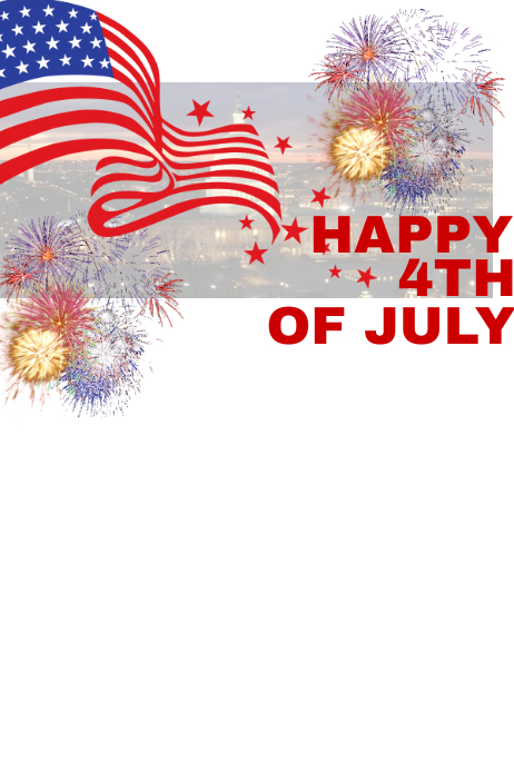 4th Of July Template PosterMyWall