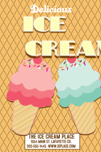 28280 Customizable Design Templates for Ice Cream Flyer