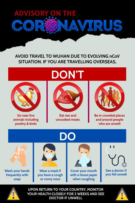 Advisory On The Coronavirus Poster Template | PosterMyWall