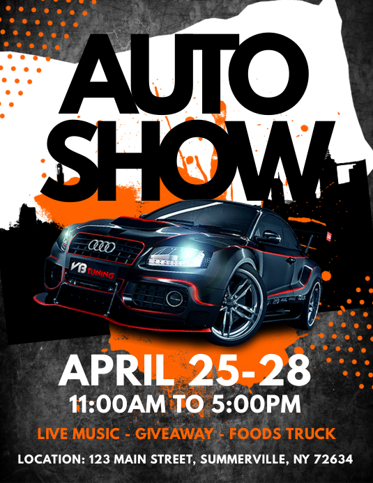 Auto Show Flyer Template  PosterMyWall