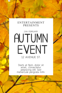 70 Customizable Design Templates For Autumn Event Flyer
