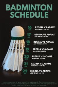 Customizable Design Templates for Badminton  PosterMyWall