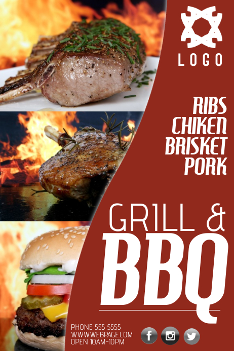 Copy Of Bbq Barbecue Grill Business Company Poster