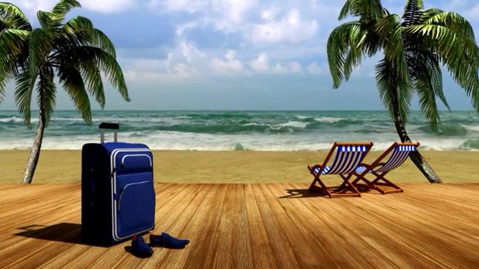 Liburan Pantai Zoom Video Latar Belakang Virtual Templat Postermywall