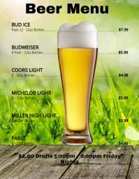 Customizable Design Templates for Beer Menu | PosterMyWall