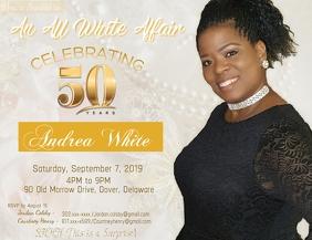 50th birthday party customizable design