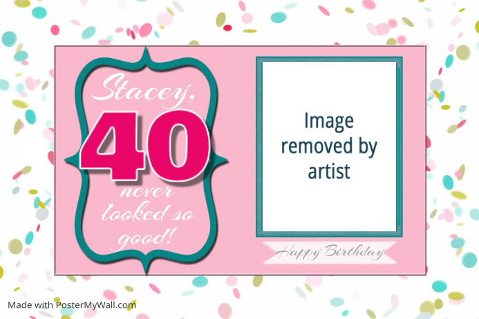 birthday party 40th poster