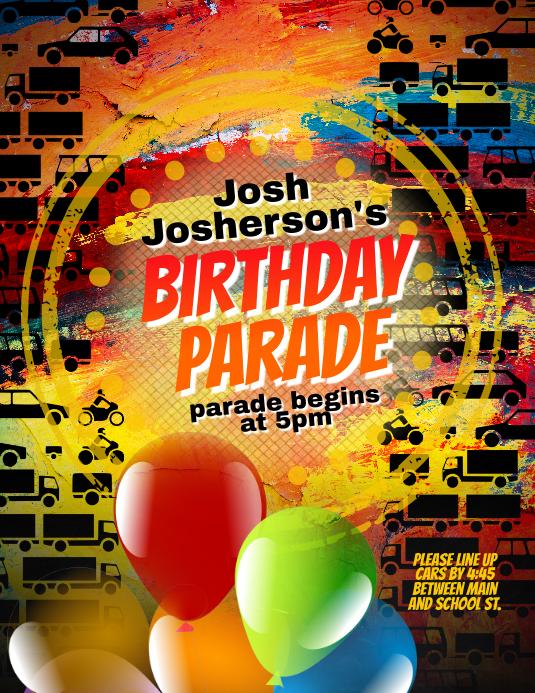 birthday party parade social distance