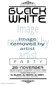 15440 Customizable Design Templates for White Party