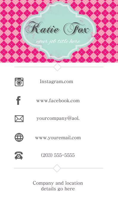 Facebook Logo For Business Cards : facebook, business, cards, Business, Communication, Facebook, Instagram, Template, PosterMyWall
