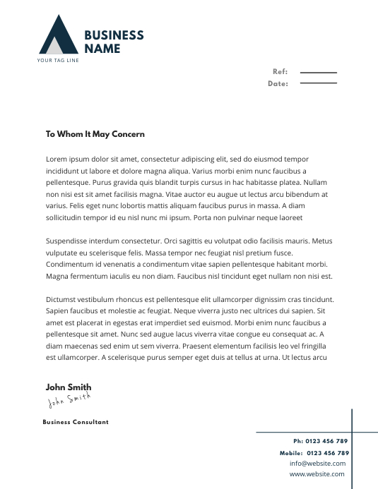 Business Letterhead Template Postermywall