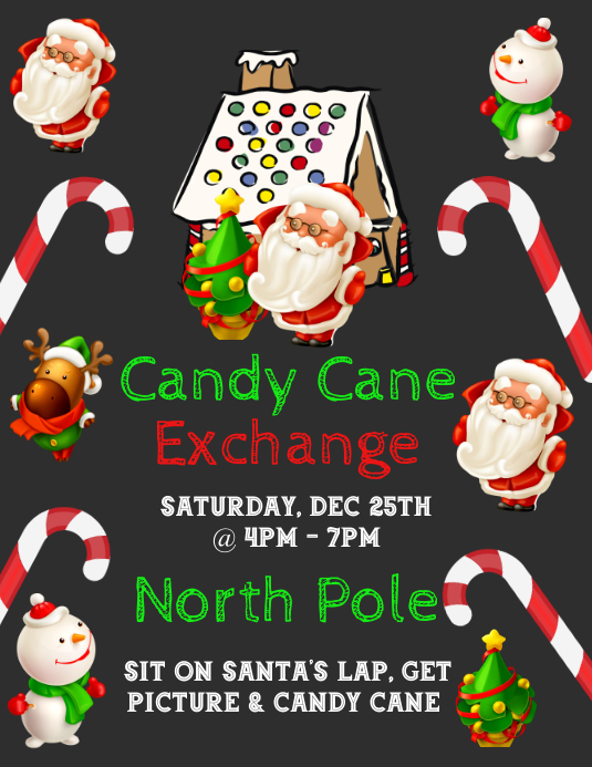Candy Cane Exchange Template PosterMyWall