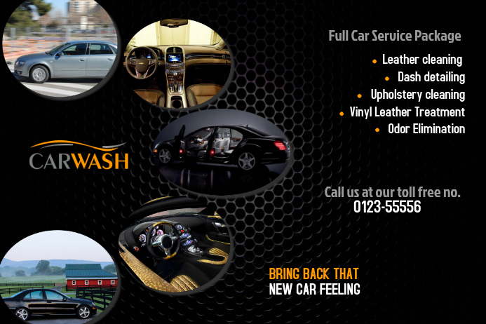Car Wash Poster Template PosterMyWall